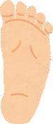 偏平足の足